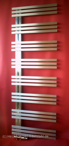 edelstahl design heizk rper inox farn 60 x 166 cm heizkoerper. Black Bedroom Furniture Sets. Home Design Ideas