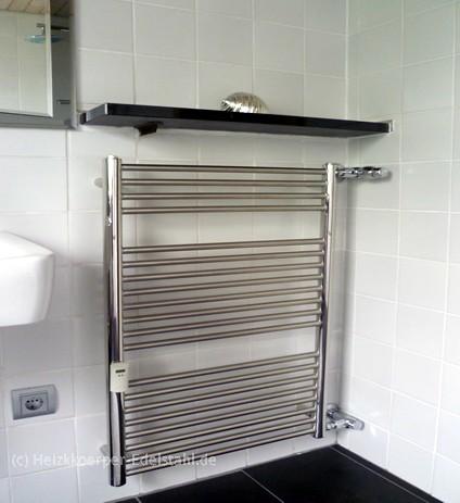 60 x 95 cm badheizk rper inox edelstahl mittelanschluss optional heizkoerper. Black Bedroom Furniture Sets. Home Design Ideas