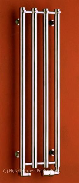 266x1500mm design heizk rper edelstahl matt 4 r hren heizkoerper. Black Bedroom Furniture Sets. Home Design Ideas