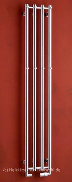 266x1500mm design heizk rper chrom veredelter stahl heizkoerper. Black Bedroom Furniture Sets. Home Design Ideas