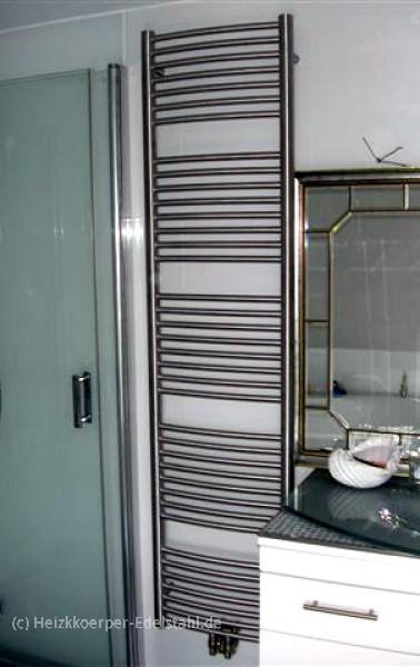 45 x 181 cm badheizk rper inox 100 edelstahl gerade o gebogen heizkoerper. Black Bedroom Furniture Sets. Home Design Ideas