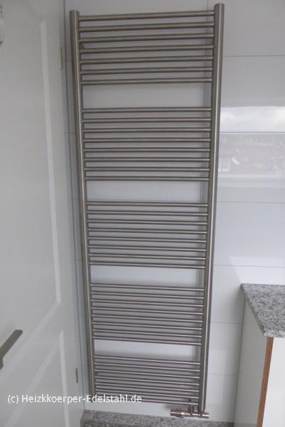 50 x 181 cm badheizk rper inox 100 edelstahl matt o poliert heizkoerper. Black Bedroom Furniture Sets. Home Design Ideas
